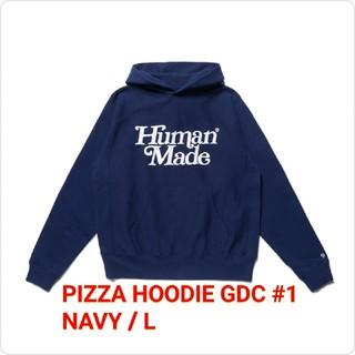 ジーディーシー(GDC)のGDC PIZZA HOODIE GDC #1 NAVY / L(8)(パーカー)