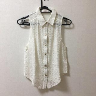 リズリサ(LIZ LISA)の❗️値下げ❗️LIZLISA レース ノースリーブシャツ(シャツ/ブラウス(半袖/袖なし))