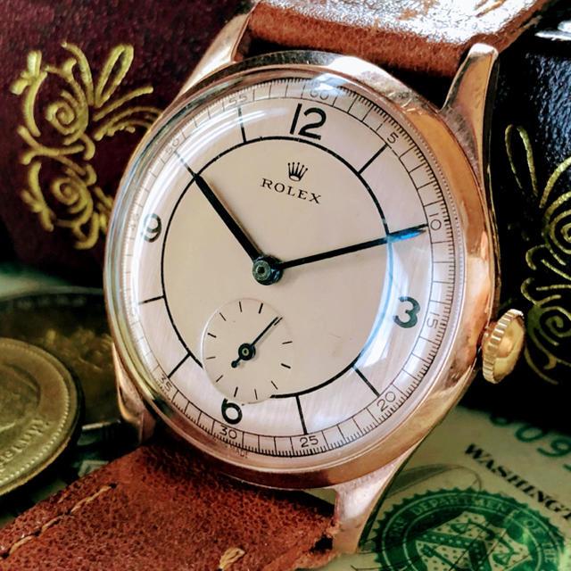 ROLEX - 【王道・一点限り】希少 ★ ROLEX ★ ロレックス 14KGP 手巻き腕時計の通販 by A.LUNA        |ロレックスならラクマ