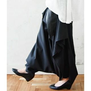 アンティカ(antiqua)のアンドイット スカート見え ドレープサルエルパンツ ワイドパンツ(サルエルパンツ)