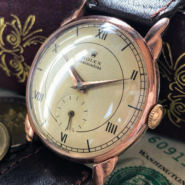 ROLEX - 【王道・一点限り】美品 ★ ROLEX ★ ロレックス 14KGP 手巻き腕時計の通販 by A.LUNA        |ロレックスならラクマ