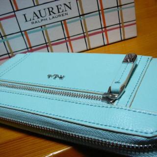 ラルフローレン(Ralph Lauren)のラルフローレン 長財布ラウンドZサックス(財布)
