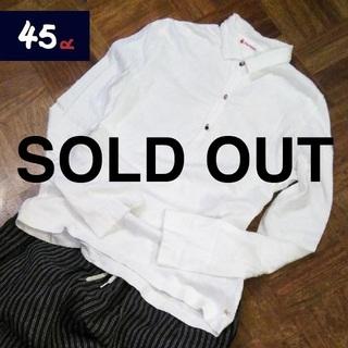 フォーティーファイブアールピーエム(45rpm)の45rpm✨アンティークビーズボタン チビ襟 ロングTシャツ(カットソー(長袖/七分))
