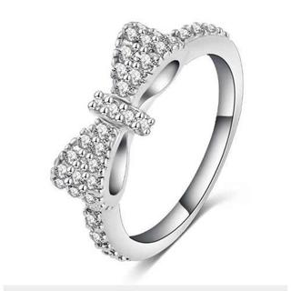 リボンが可愛いAAA高品質リング 婚約指輪 結婚式(リング(指輪))