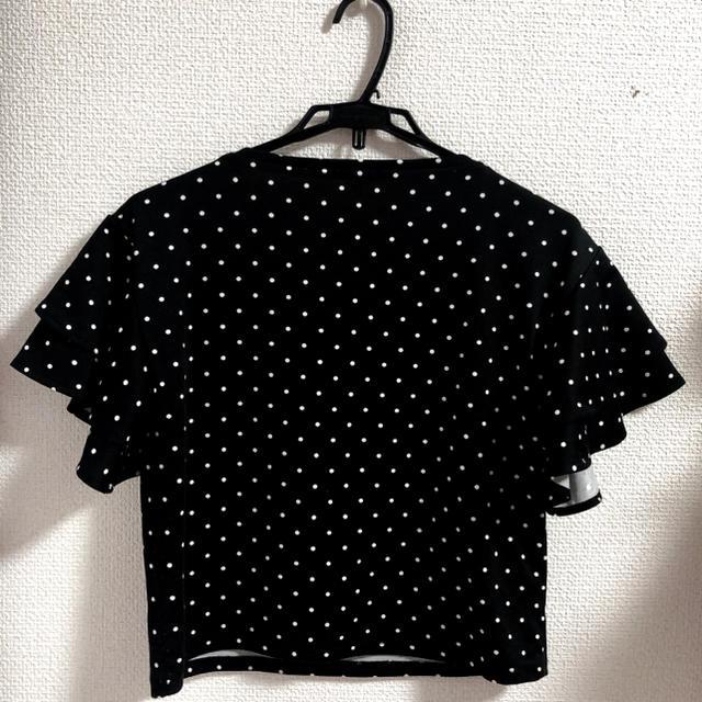 GU(ジーユー)の●〇ドット柄〇●Tシャツ トップス フリル 送料無料💓 レディースのトップス(シャツ/ブラウス(半袖/袖なし))の商品写真