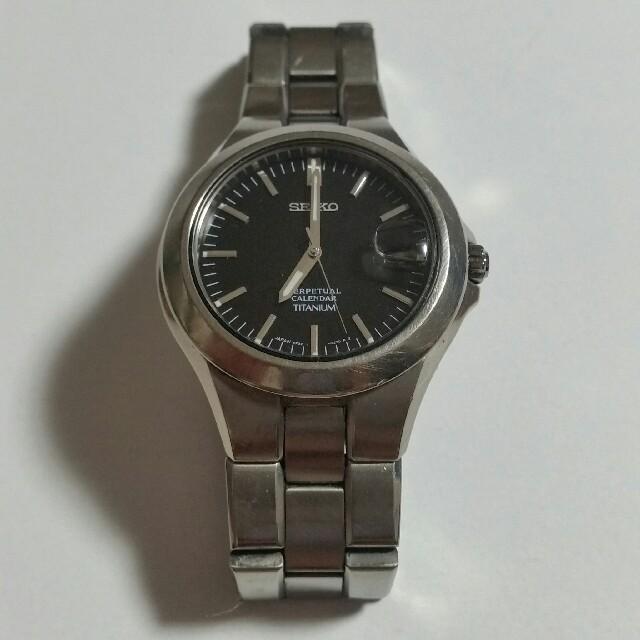SEIKO - セイコー 腕時計 パーペチュアルカレンダー チタニウム 8F32-0220の通販 by yasu's shop|セイコーならラクマ