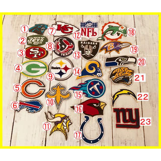 アイロン 刺繍 ワッペン!NFL ナショナル フットボール リーグ チーム