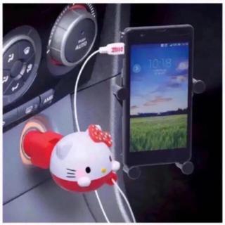 ハローキティ(ハローキティ)のセイワ(SEIWA)車用携帯充電器 ハローキティ リールチャージャー(バッテリー/充電器)