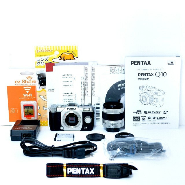 PENTAX(ペンタックス)の★ Wi-Fiでスマホへ★超コンパクト♪ペンタックス Q10 レンズキット スマホ/家電/カメラのカメラ(ミラーレス一眼)の商品写真