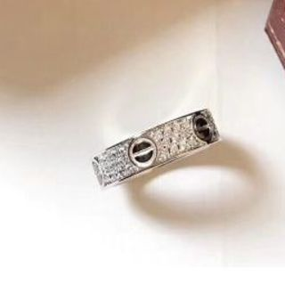 カルティエ(Cartier)のCARTIER ミニラブリング パヴェ ダイヤ #48 8号 ダイア(リング(指輪))