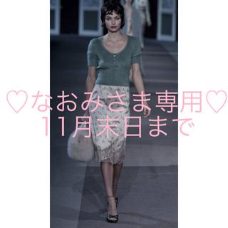 ルイヴィトン(LOUIS VUITTON)のルイ ヴィトン♡ランウェイ♡ロマンティックなモヘアニット&レースのスカート♡(セット/コーデ)