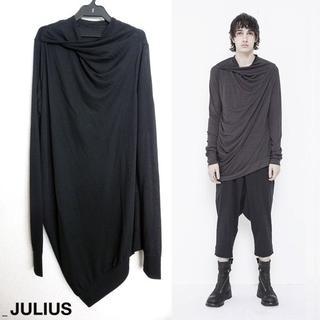 ユリウス(JULIUS)のJULIUS ツイストネックドカットソー 1 アシンメトリー ドレープ 18PF(Tシャツ/カットソー(七分/長袖))