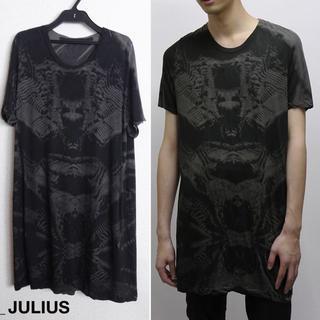 ユリウス(JULIUS)のJULIUS プリントカットソー 1 総柄 2014FW ダスト カシミヤ 希少(Tシャツ/カットソー(半袖/袖なし))