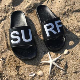 ロンハーマン(Ron Herman)の秋の海デート☆LUSSO SURF シャワーサンダル 黒41☆ベナッシ(サンダル)
