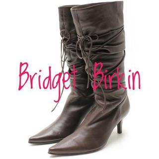 ブリジットバーキン(Bridget Birkin)のブリジット バーキン【未使用、美品】編み上げ ロング ブーツ ヒール(ブーツ)