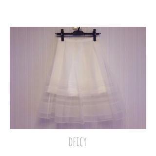 デイシー(deicy)のorgandie skirt(ひざ丈スカート)