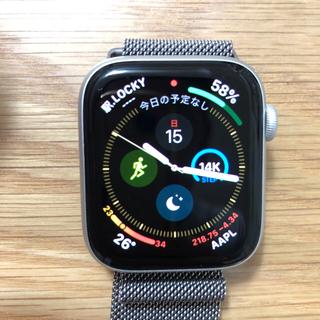 アップルウォッチ(Apple Watch)のApple Watch Series 4(GPS)-44mmシルバーアルミニウム(腕時計(デジタル))