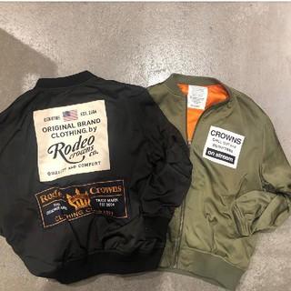 ロデオクラウンズワイドボウル(RODEO CROWNS WIDE BOWL)のお得なカーキ&ブラックのセット♪☆更にリピーター1000円値引きサービスあり‼️(ミリタリージャケット)
