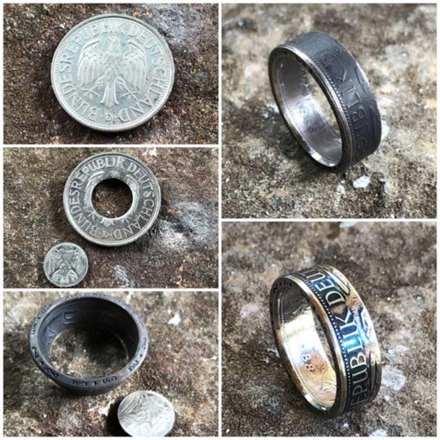 ドイツコインリング 指輪 1マルク 外国コイン加工 メンズのアクセサリー(リング(指輪))の商品写真