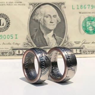 アメリカコインリング  ケネディハーフダラー 50セント 指輪 外国コイン加工(リング(指輪))