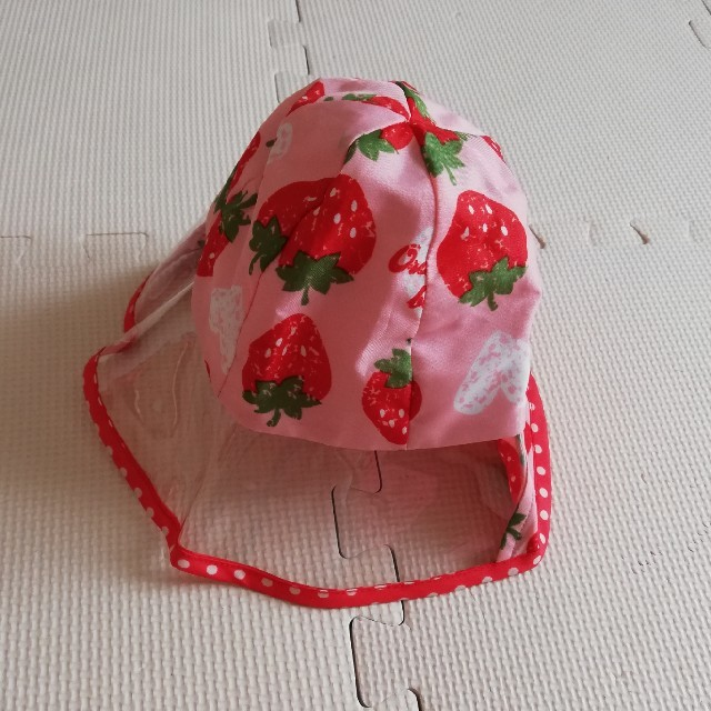 Orange bonbon(オレンジボンボン)のレイン帽子 キッズ/ベビー/マタニティのこども用ファッション小物(レインコート)の商品写真