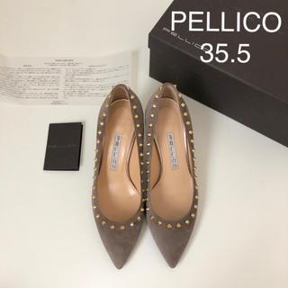 PELLICO - 美品 ★ ペリーコ 新木型ANIMA スタッズパンプス ★ スエードパンプス