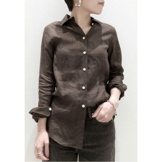 新品* MADISONBLUE  MADAME SHIRT Brown