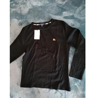 バーバリーブルーレーベル(BURBERRY BLUE LABEL)のBURBERRY ブルーレーベル ブラック 長袖T(Tシャツ/カットソー)