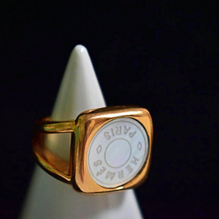 エルメス(Hermes)のエルメス リング ゴールド シェル 01(リング(指輪))