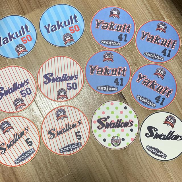 東京ヤクルトスワローズ(トウキョウヤクルトスワローズ)の東京ヤクルトスワローズ コースター スポーツ/アウトドアの野球(応援グッズ)の商品写真