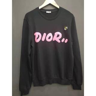 ディオール(Dior)のDior  DIOR×KAWS  ロゴ入りスウェットシャツ(スウェット)