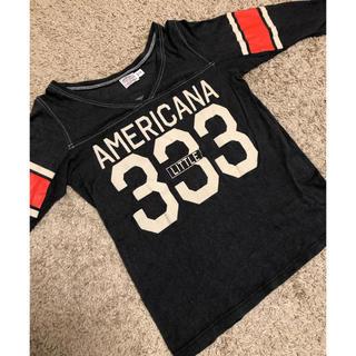 アパルトモンドゥーズィエムクラス(L'Appartement DEUXIEME CLASSE)のアパルトモン別注 アメリカーナ VネックNUMBER FOOTBALL Tシャツ(Tシャツ(長袖/七分))