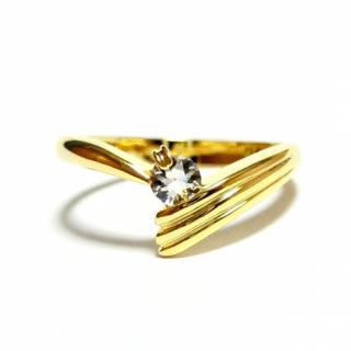 3号 ピンキー スワロフスキー ゴールドリング(リング(指輪))