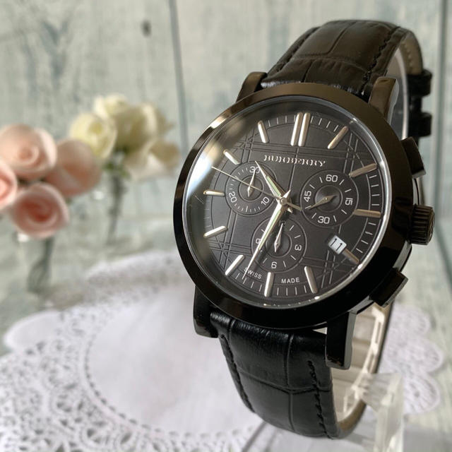 BURBERRY - 【美品】BURBERRY バーバリー BU1373 腕時計 クロノグラフ 黒の通販 by soga's shop|バーバリーならラクマ