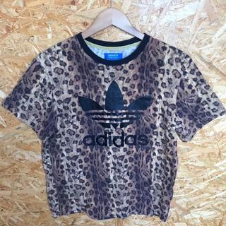 アディダス(adidas)のadidas レオパード柄 Tシャツ ビッグトレフォイル Lサイズ レアプリント(Tシャツ/カットソー(半袖/袖なし))