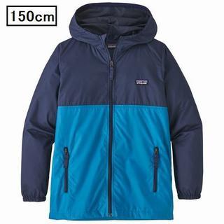 patagonia - パタゴニア フード付きウィンドジャケット パーカー 150cm 青紺