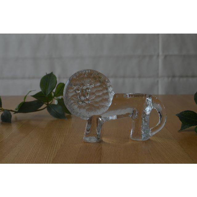 Lisa Larson(リサラーソン)のBODA/ボダ●Bertil Vallien ガラス ライオンM●リサラーソン インテリア/住まい/日用品のインテリア小物(置物)の商品写真