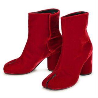 Maison Margiela メゾンマルジェラ タビ ブーツ ベロア 足袋(ブーツ)