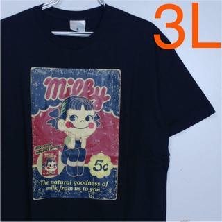 サンリオ(サンリオ)の《新品》ペコちゃん☆3Lビッグサイズ☆半袖Tシャツ・黒♪5369(Tシャツ/カットソー(半袖/袖なし))