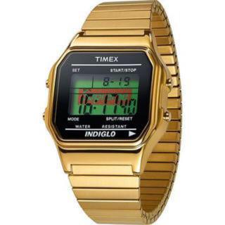 シュプリーム(Supreme)のsupreme timex degital watch gold(腕時計(デジタル))