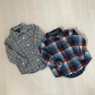 ベビーギャップ(babyGAP)のbaby gap**ネルシャツ チェックシャツ 2枚セット(ブラウス)