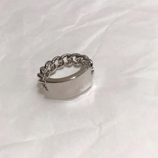 Plate chain silver ring No.112(リング(指輪))