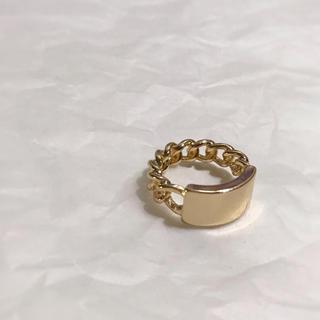 トゥデイフル(TODAYFUL)のPlate chain gold ring No.111(リング(指輪))