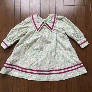 フェフェ(fafa)のfafa 長袖 襟付きコーデュロイワンピース 110(ワンピース)