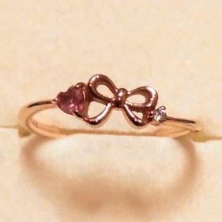 サマンサティアラ(Samantha Tiara)のサマンサティアラ K18 ダイヤモンドリング 色石リング ピンキー(リング(指輪))