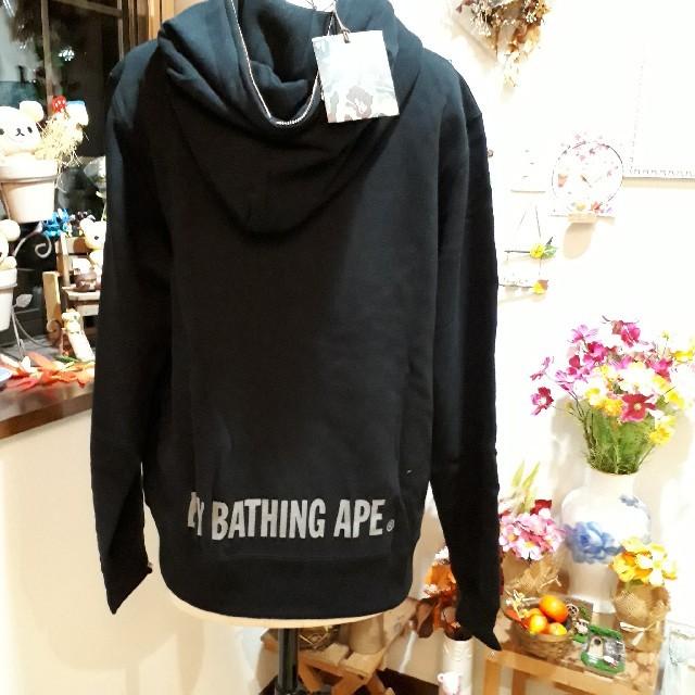 A BATHING APE(アベイシングエイプ)の新品⭐A BATHING APE エイプ ジップアップパーカー⭐ブラック/L メンズのトップス(パーカー)の商品写真