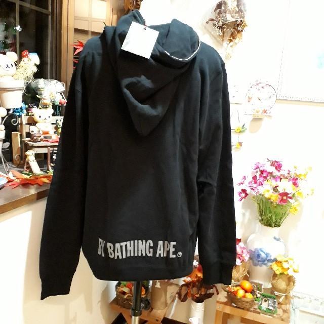 A BATHING APE(アベイシングエイプ)の新品⭐A BATHING APE エイプ ジップアップパーカー⭐ブラック/XL  メンズのトップス(パーカー)の商品写真