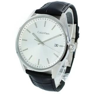 カルバンクライン(Calvin Klein)の値下げ可能!Calvin Klein 腕時計 クロコ 黒 レザー(腕時計(アナログ))