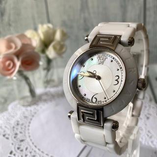 ヴェルサーチ(VERSACE)の【希少】 VERSACE ヴェルサーチ 腕時計 メデューサ  シルバー 92Q(腕時計(アナログ))
