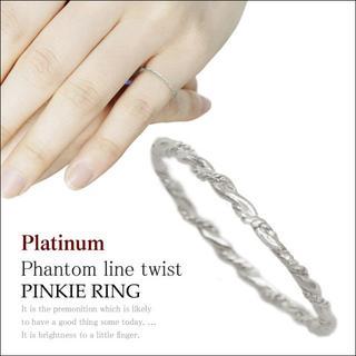 ピンキーリング 1号 から レディース プラチナ 極細 シンプル 華奢(リング(指輪))